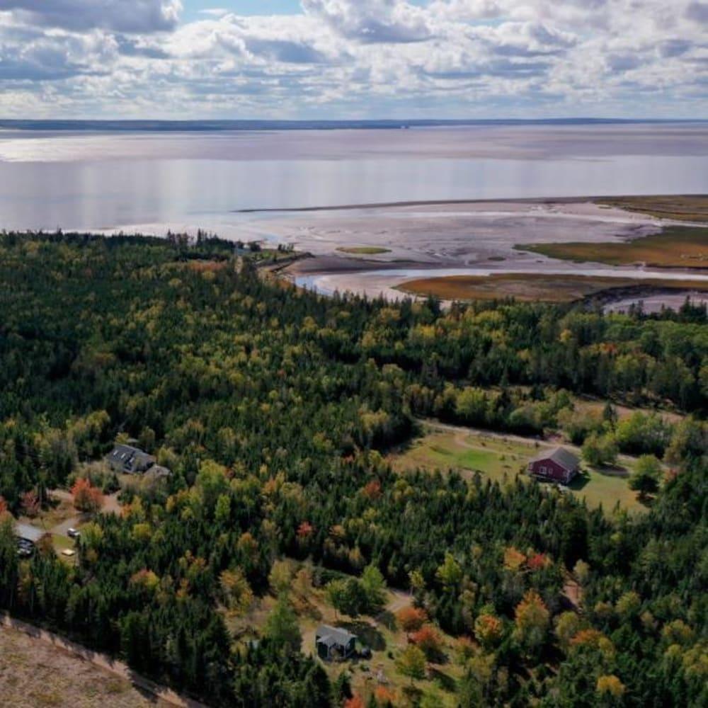 Une vue aérienne de Portapique.