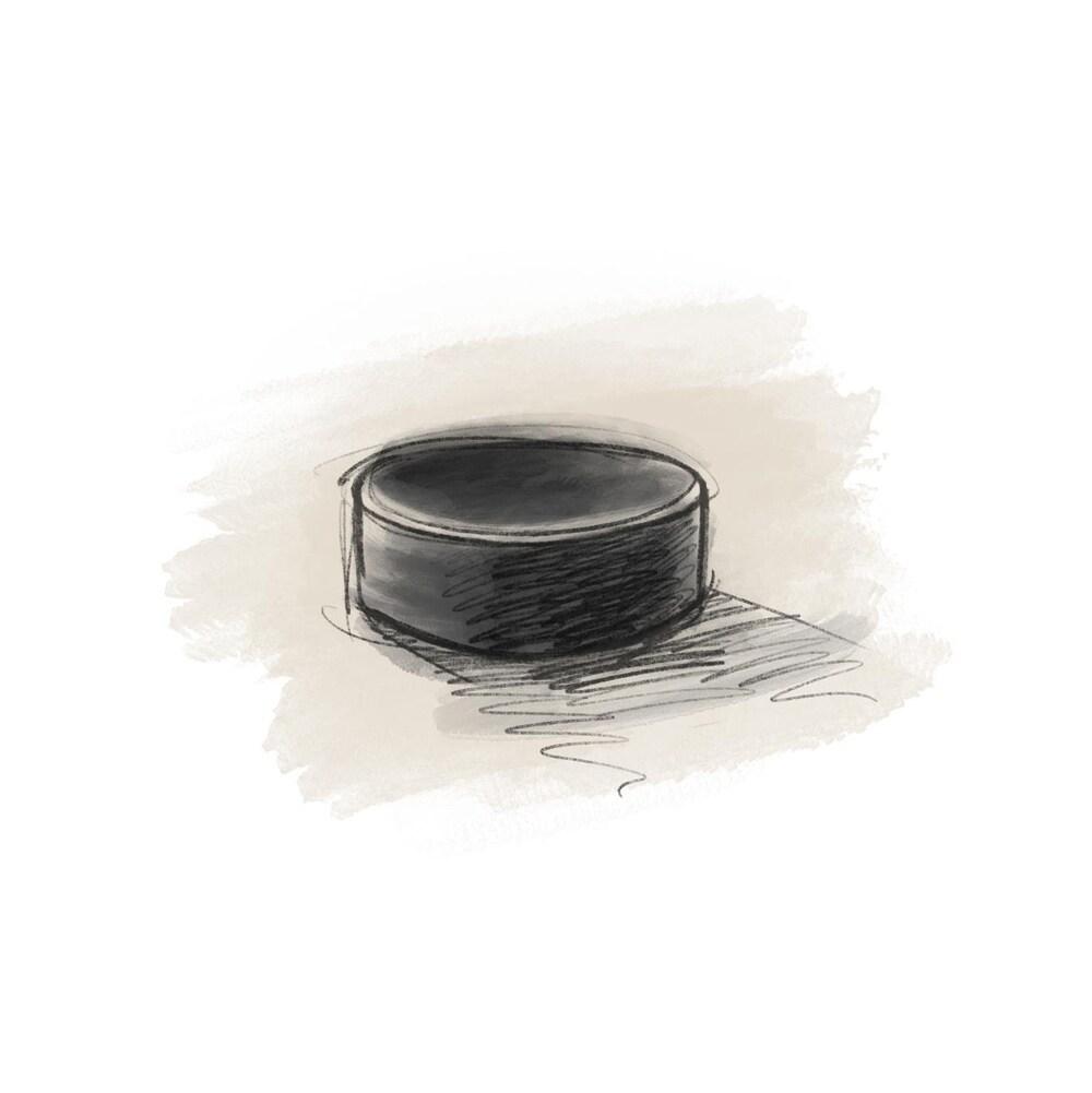 Une rondelle de hockey
