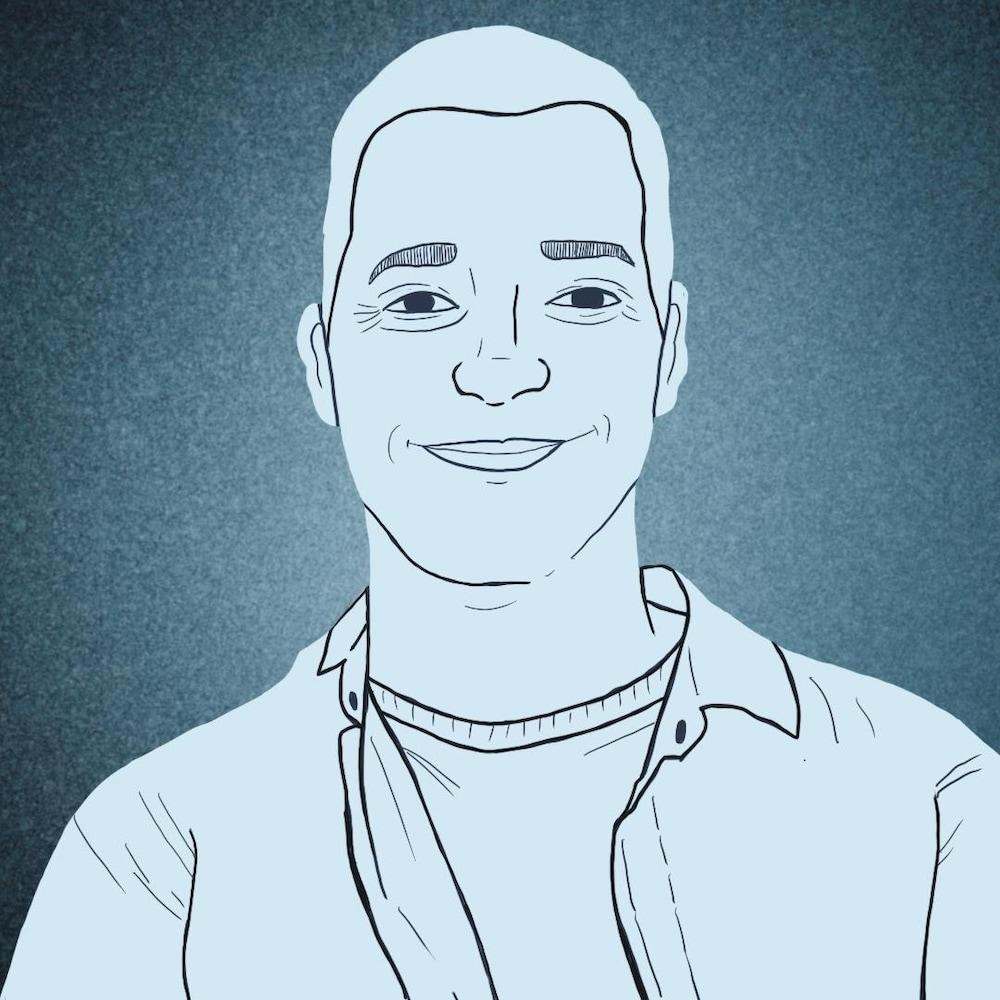 Illustration d'un intervenant social qui sourit.