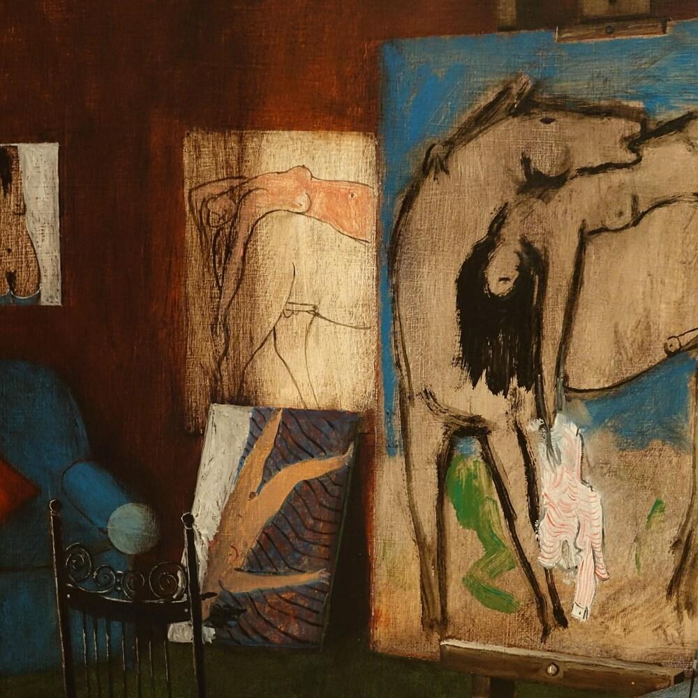 La toile « Studio Interior » par Henry Wanton Jones.