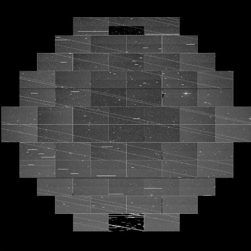 Un assemblage de photos formant une carte d'une région de l'espace