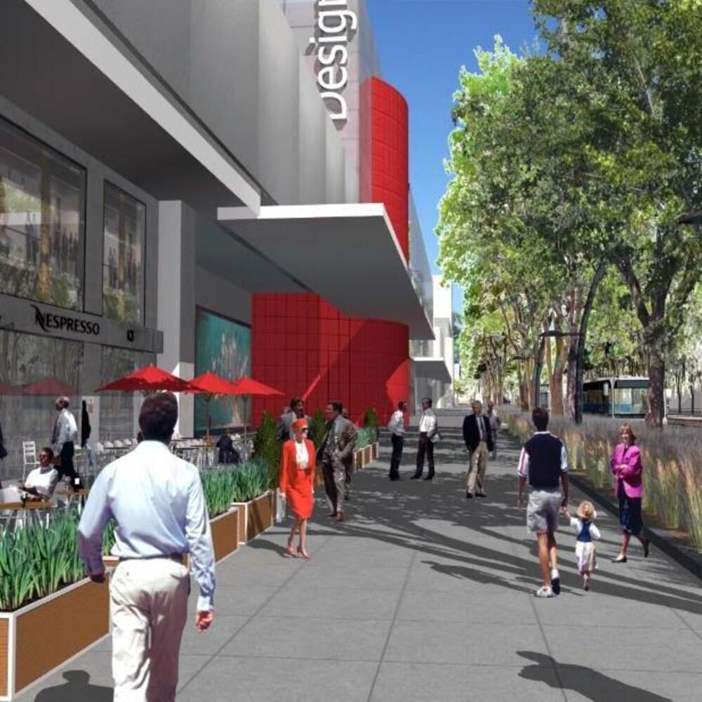 Un look futur de ce qu'aura l'air le boulevard Laurier avec le tramway.