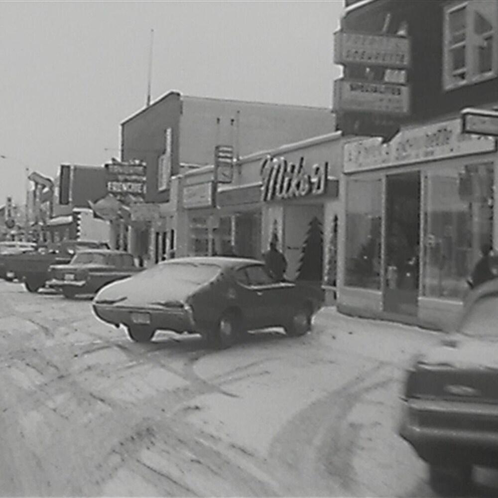 Une rue de Val-d'Or, en 1971.
