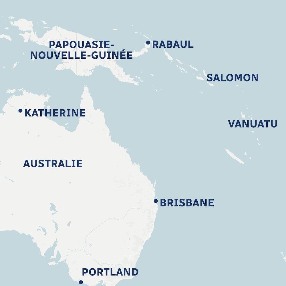 Carte Vanuatu