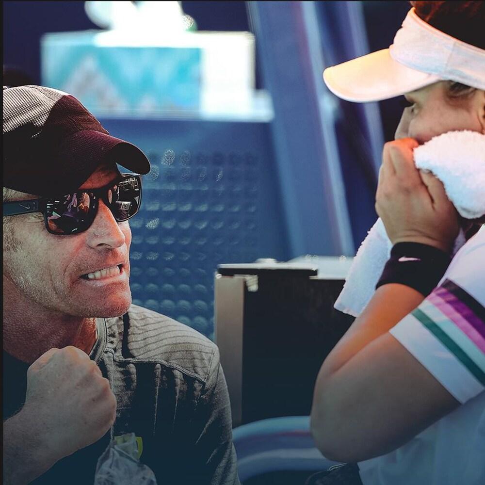 L'entraîneur de tennis Sylvain Bruneau et la joueuse Bianca Andreescu