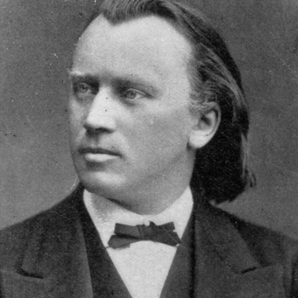 Le compositeur Johannes Brahms en 1869.