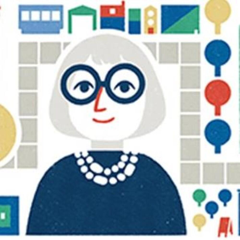 Jane Jacobs sur la page d'accueil de Google.