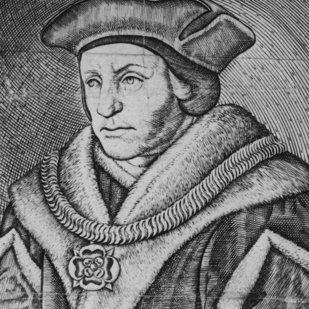 Gravure représentant Thomas More vers 1520.