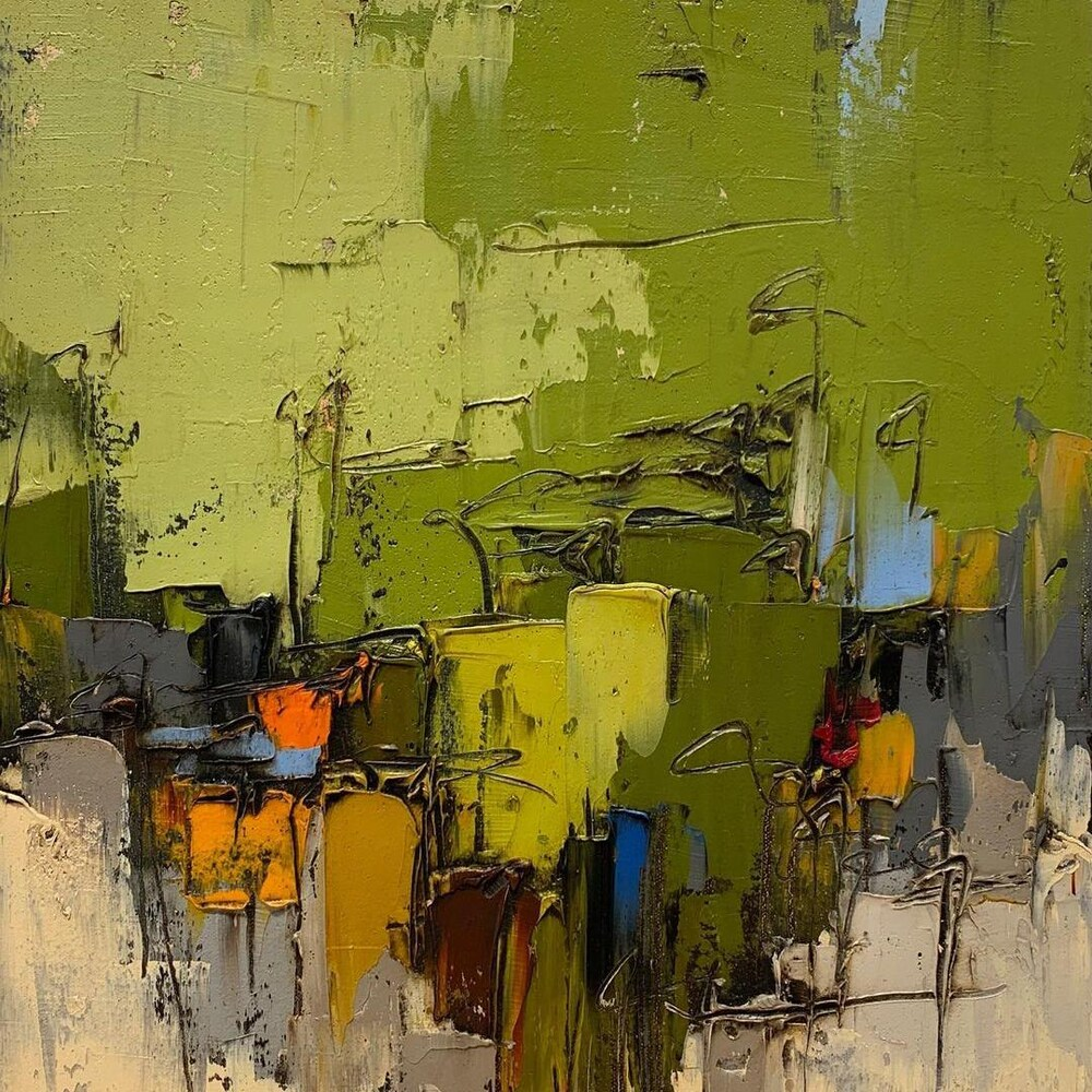 Une toile de Dominik Sokolowski.