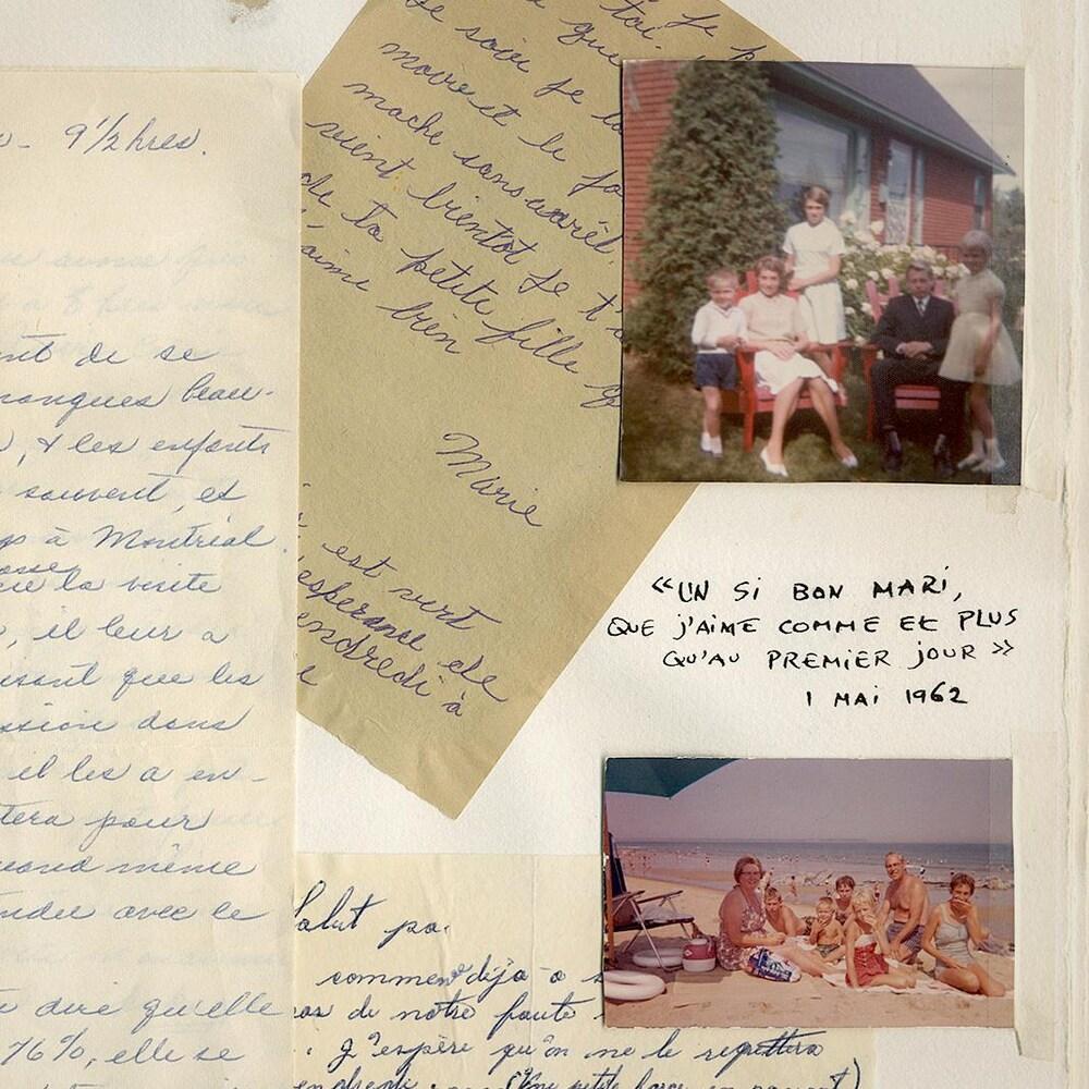 Des lettres ainsi que des images de la vie de famille d'Antoine et Lauretta, après la guerre.