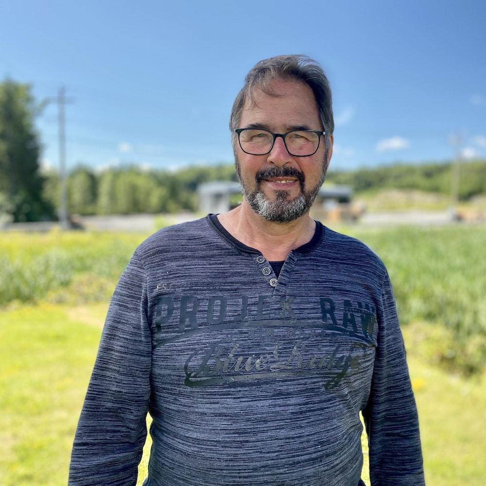 Le producteur forestier Jean-Marie Gilbert.