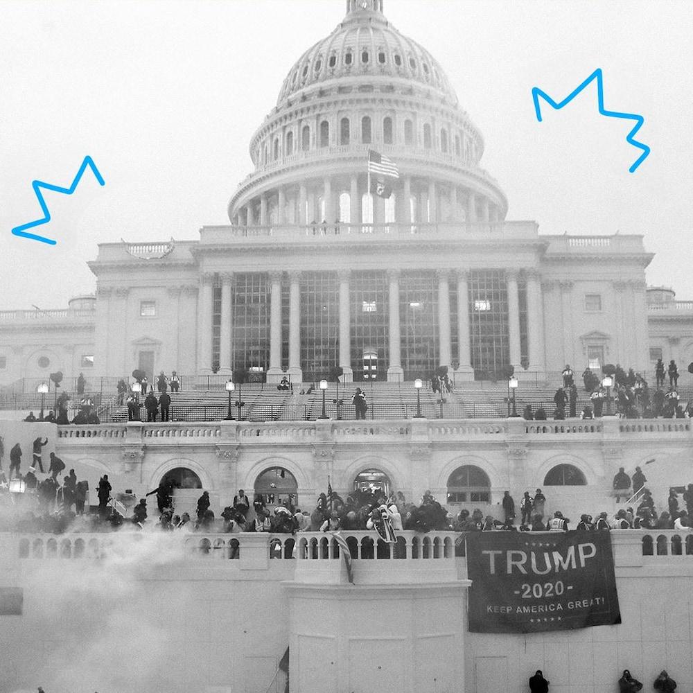 Le Capitole à Washington lors de la manifestation du 6 janvier 2021.