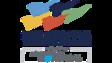 Le logo du Salon international tourisme voyages comprend 5 drapeaux au vent de couleurs différentes.