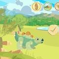 Écran du jeu J'élève mon dinosaure.