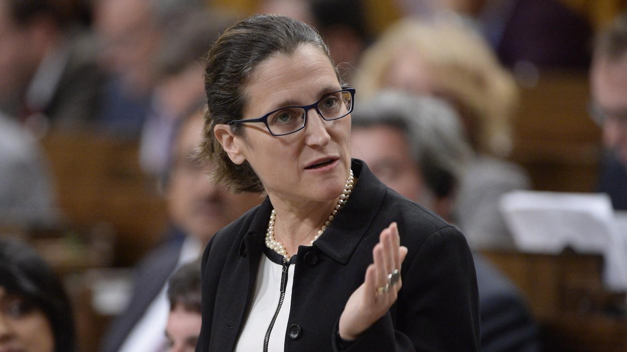 La ministre des Affaires étrangères du Canada, Chrystia Freeland
