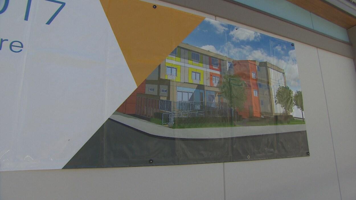 Croquis d'une construction d'appartements modulaires à Vancouver