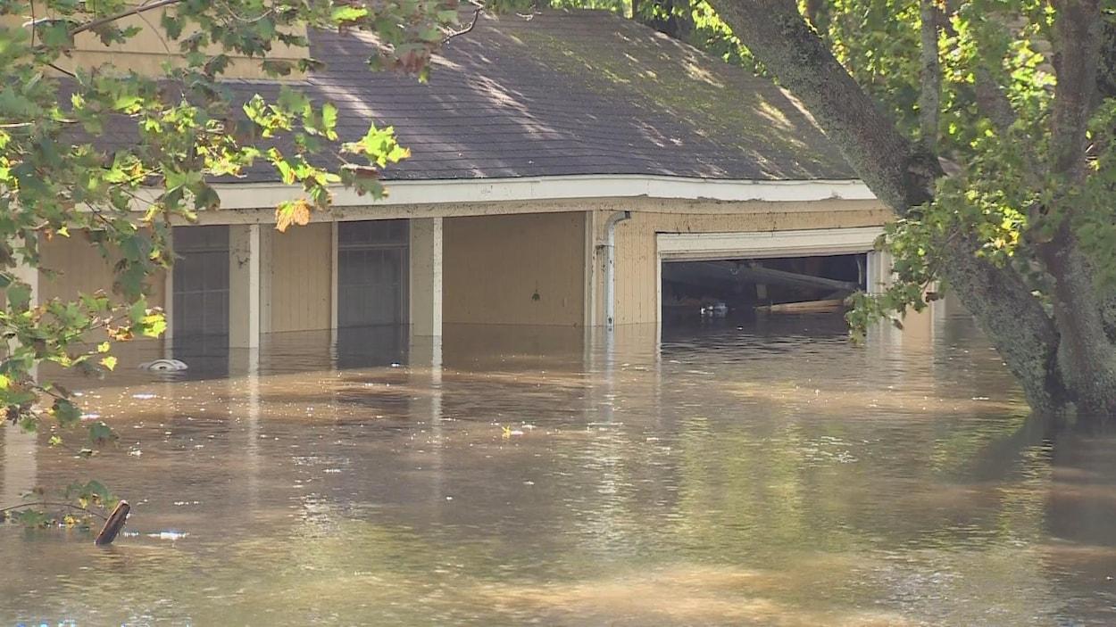 La maison de Terry Drohan le lendemain des inondations du 10 octobre 2016
