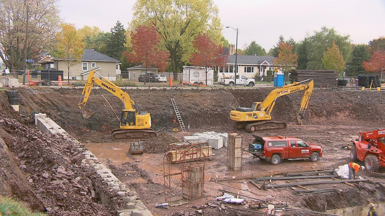 Le chantier du projet immobilier Le Charles-Huot