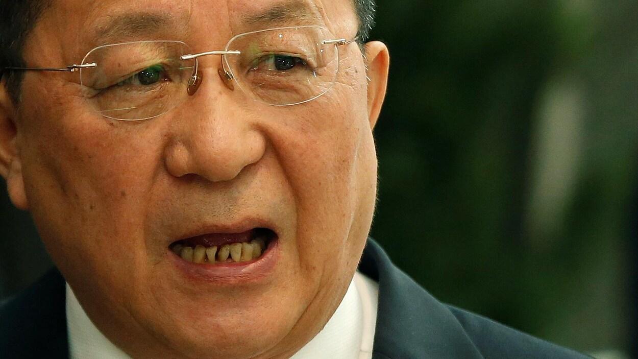 Ri Yong-ho, le ministre nord-coréen des Affaires étrangères