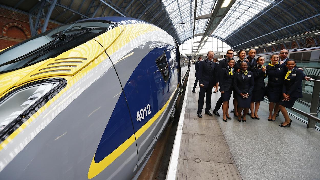Un train e320 de Siemens, qui fait la liaison entre Londres et Paris