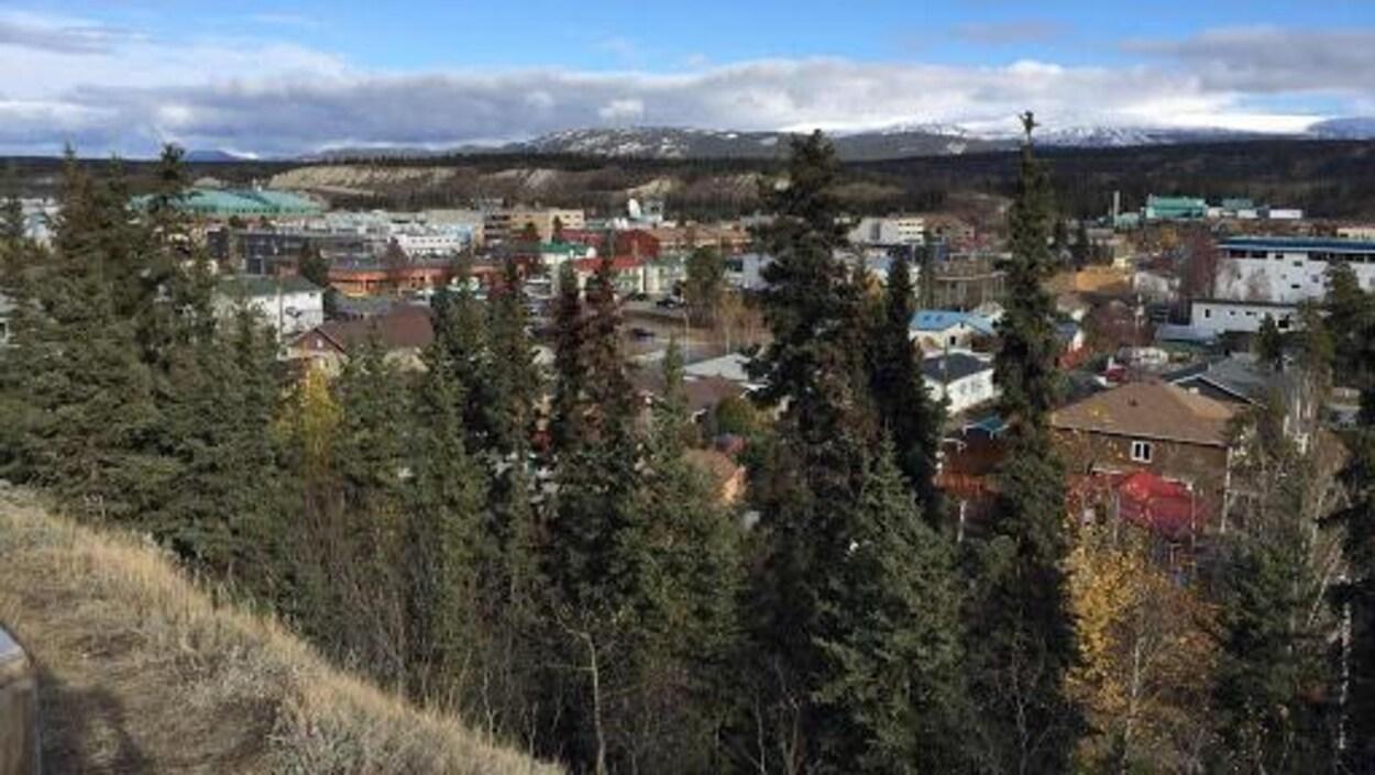 Whitehorse vue depuis les hauteurs de la ville