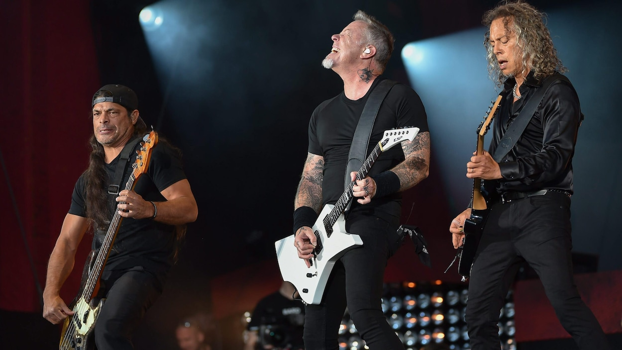 Le groupe Metallica en spectacle au Global Citizen Festival à New York en septembre.