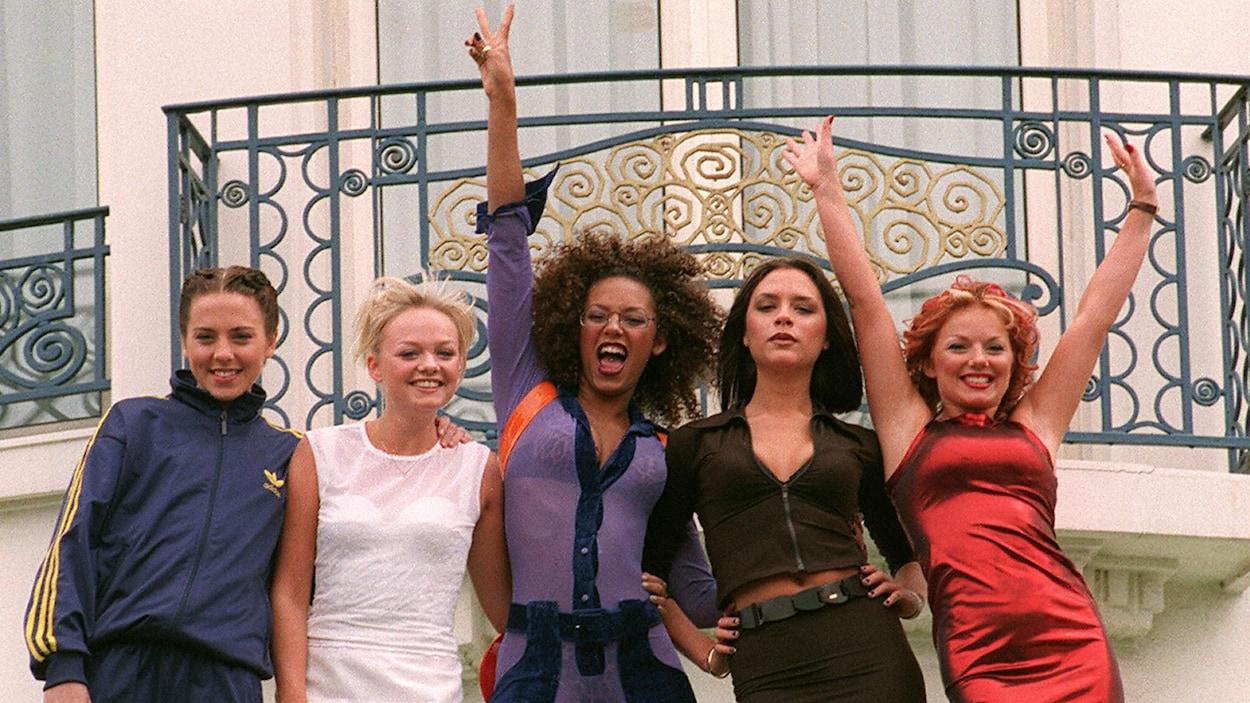 Les Spice Girls dans les années 90