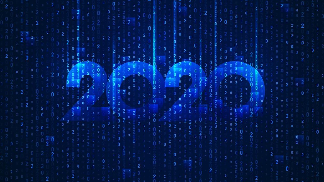Conceptualisation de l'année 2020 avec des nombres binaires.