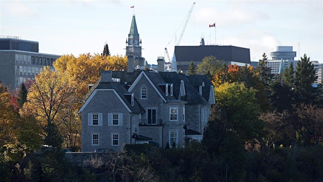 Photo de la résidence officielle du premier ministre du Canada.