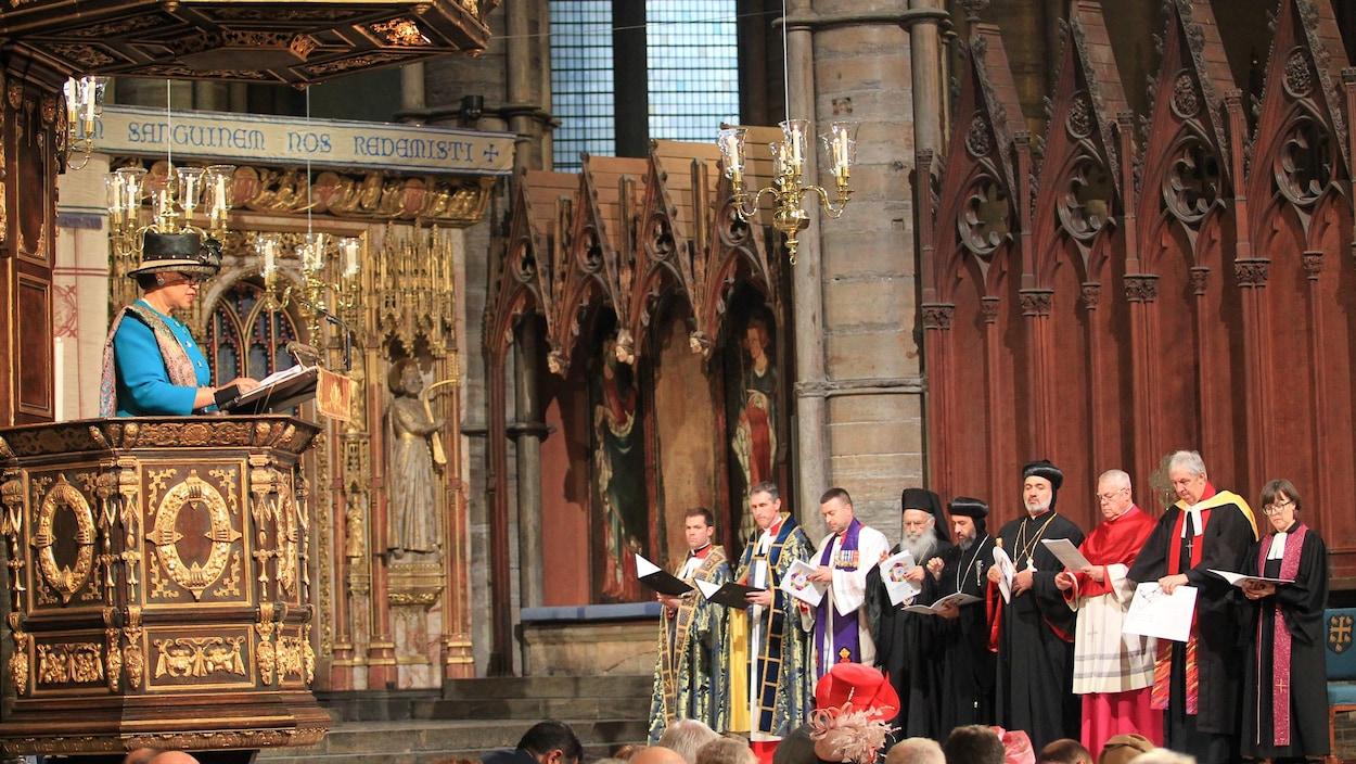 Guy Chapdelaine a participé à un service interconfessionnel à l'abbaye de Westminster, à Londres, en Angleterre.
