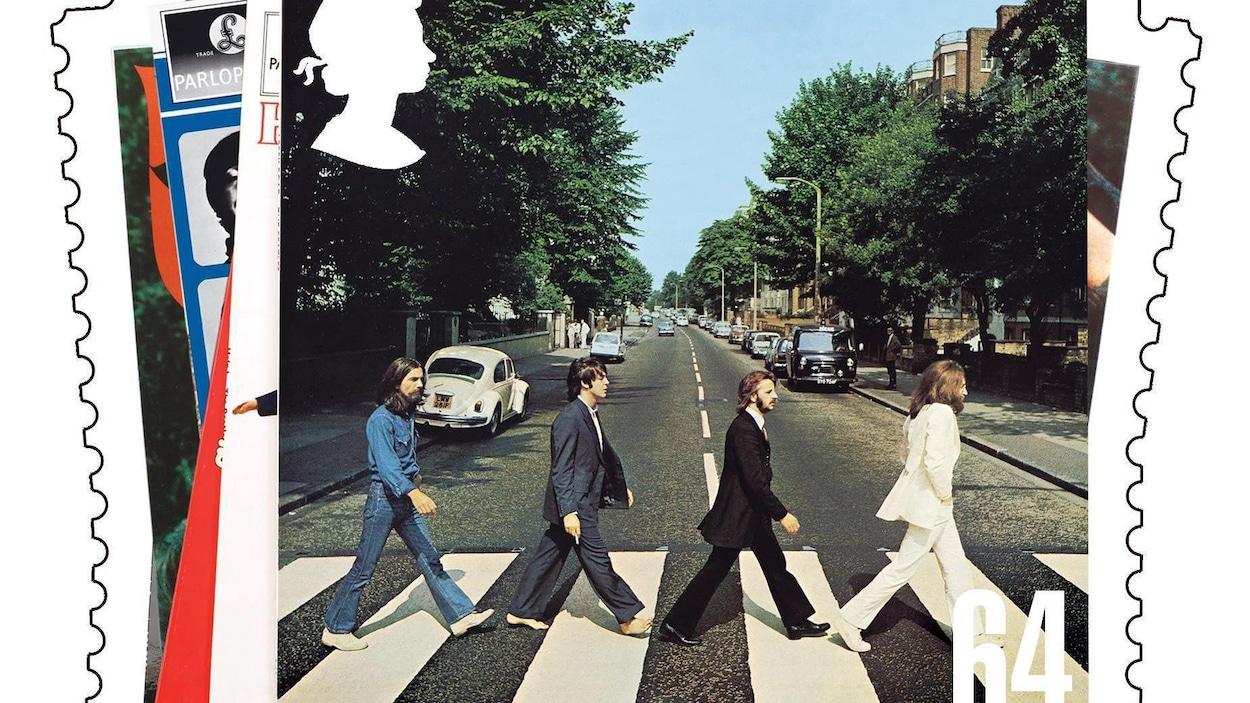 La photo prise sur Abbey Road est reproduite.