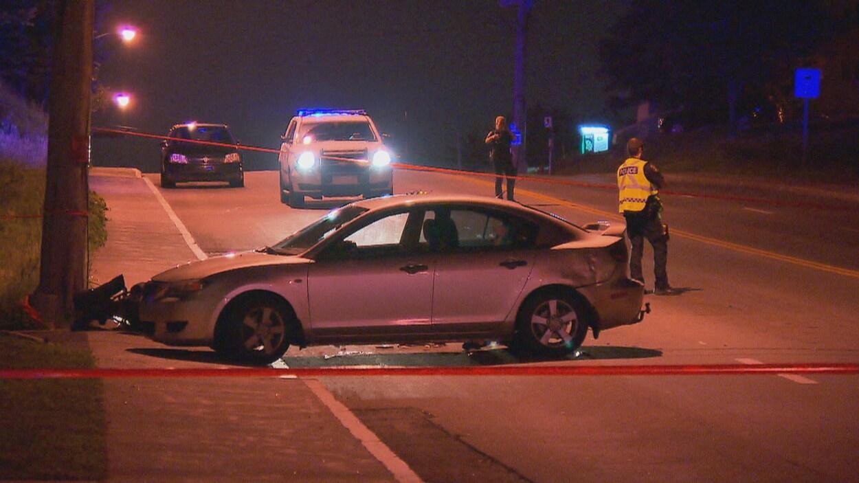 Un blessé grave dans une collision à Québec
