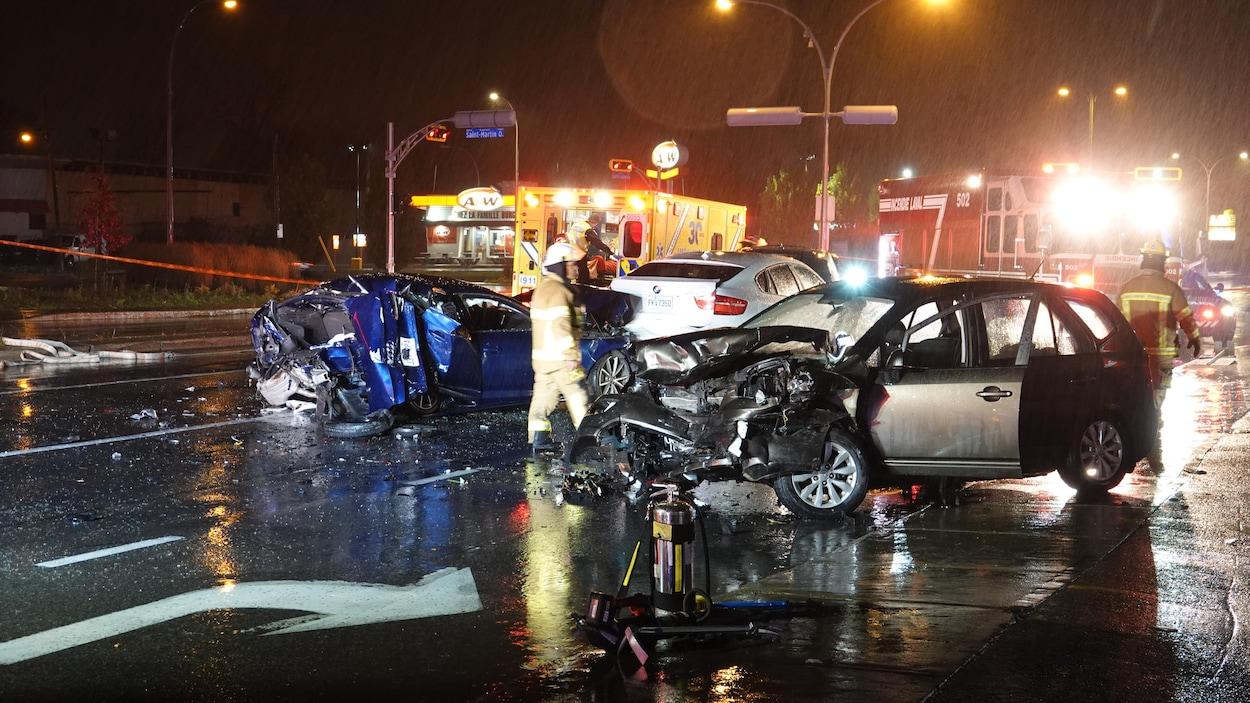 L'accident s'est produit un à 18 h 40, dimanche, à Laval.