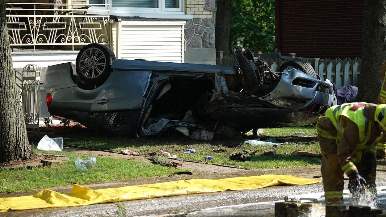 L'accident est survenu devant une résidence du secteur Limoilou.