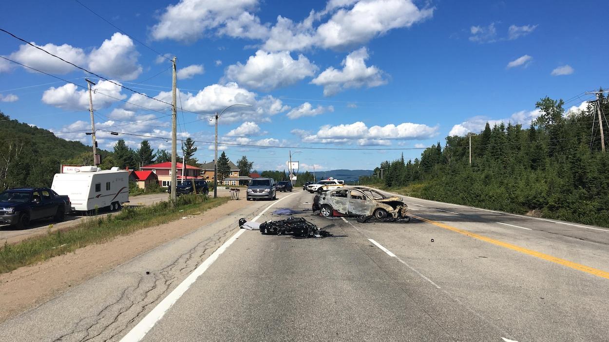 L'accident s'est produit sur la route 138 à la hauteur de Petite-Rivière-Saint-François.