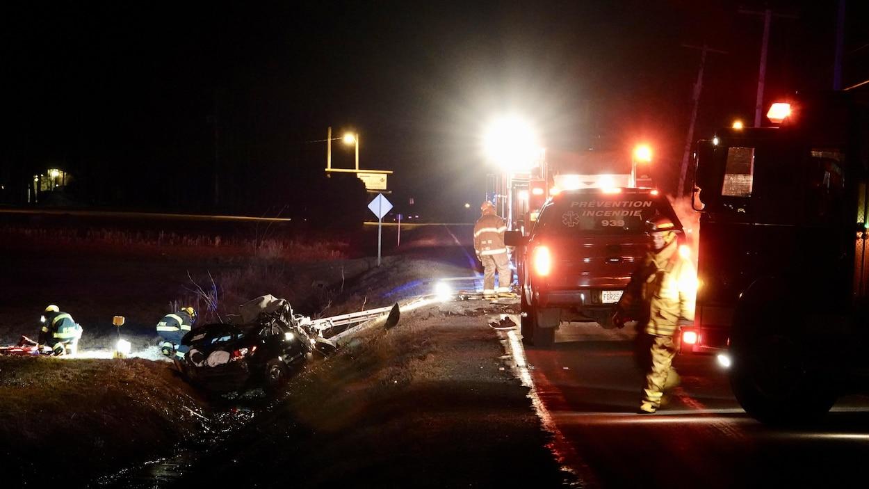 Collision en Montérégie: un mort et 4 blessés