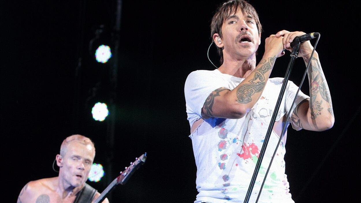 Flea et Anthony Kiedis, du groupe Red Hot Chili Peppers