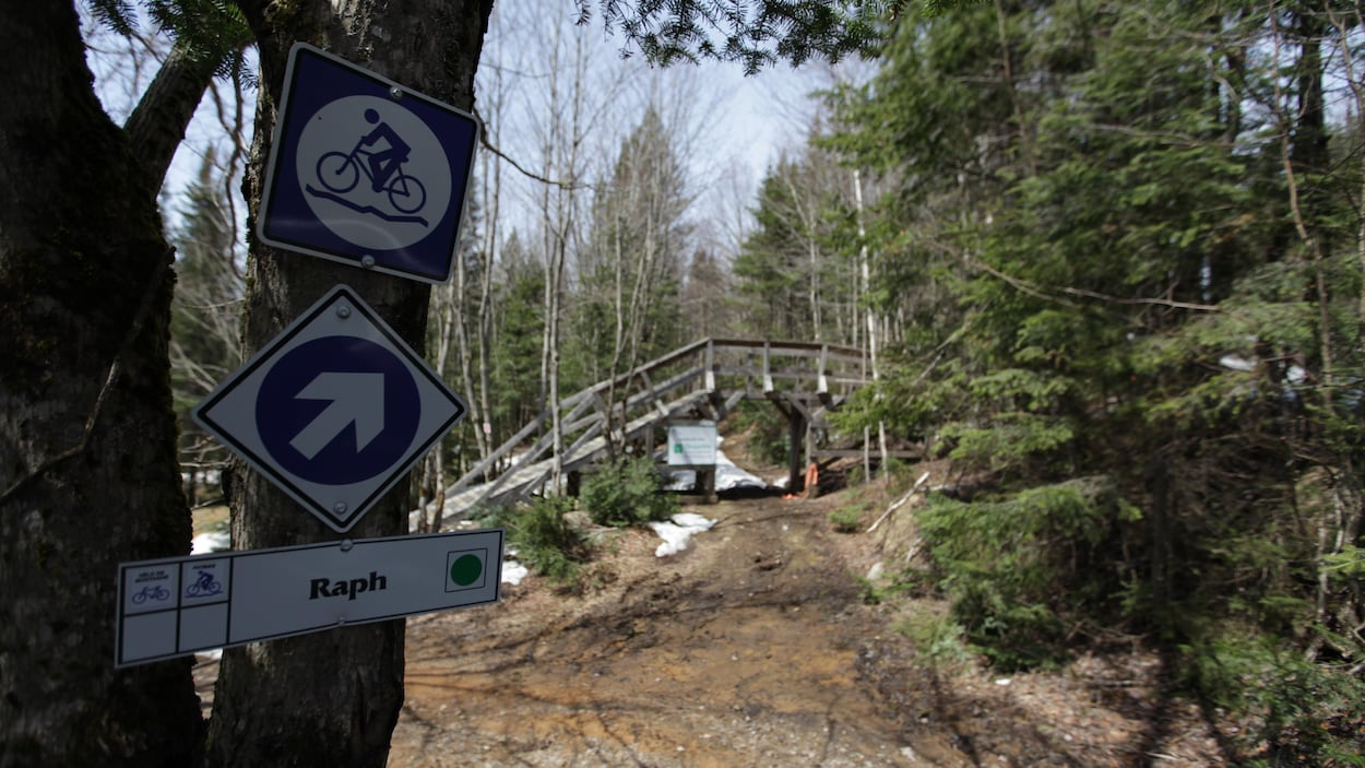 Affiche Pont en bois Sentiers du Moulin