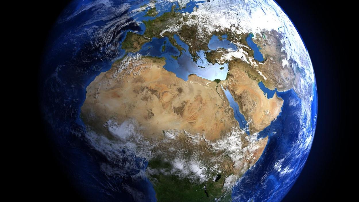 L'Afrique vue de l'espace.