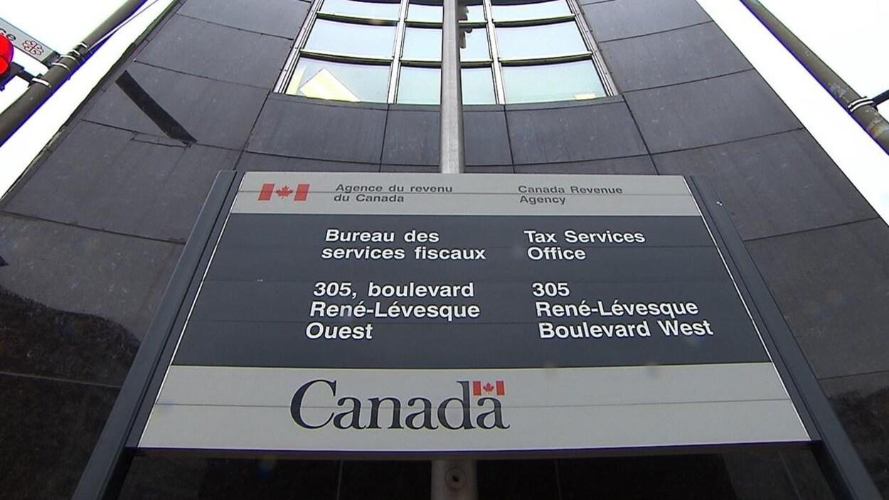 Le bureau montréalais de l'Agence du revenu du Canada