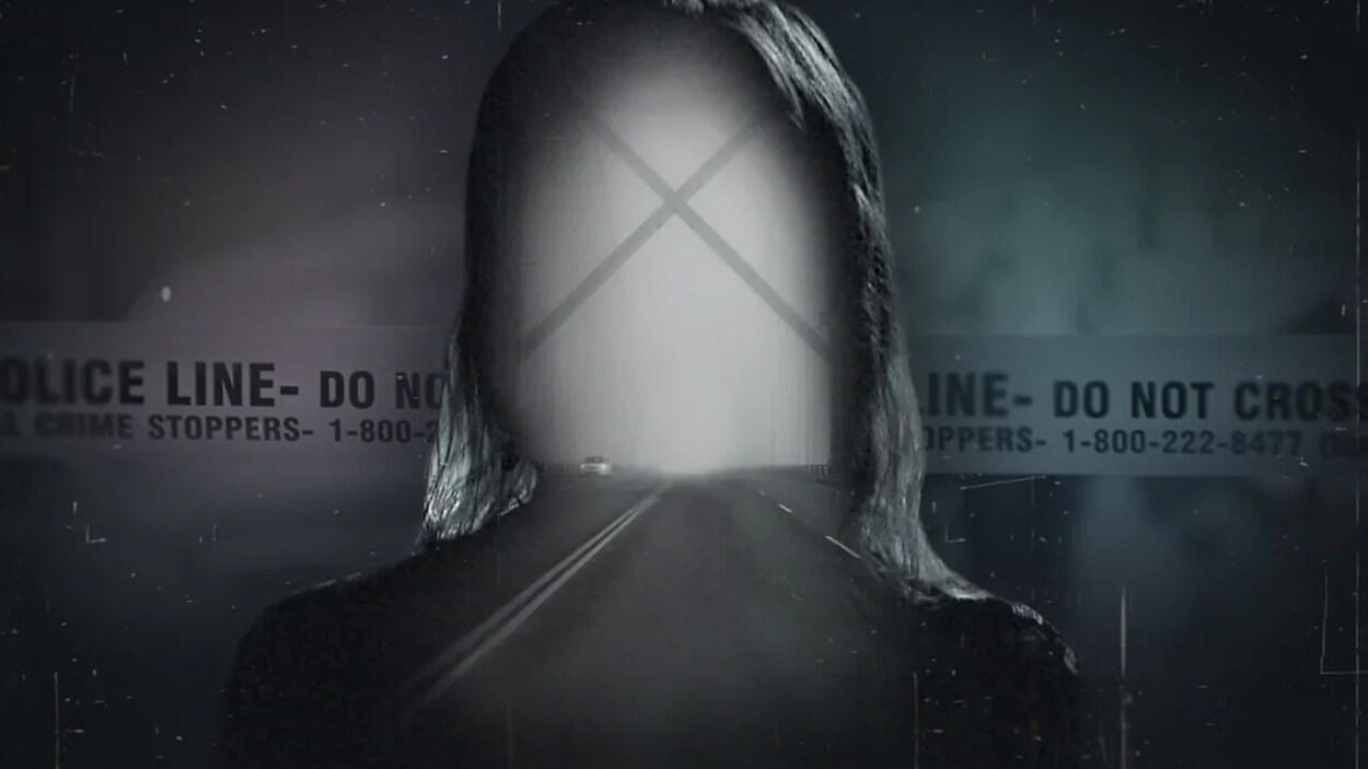 La silhouette d'une victime d'agression sexuelle.
