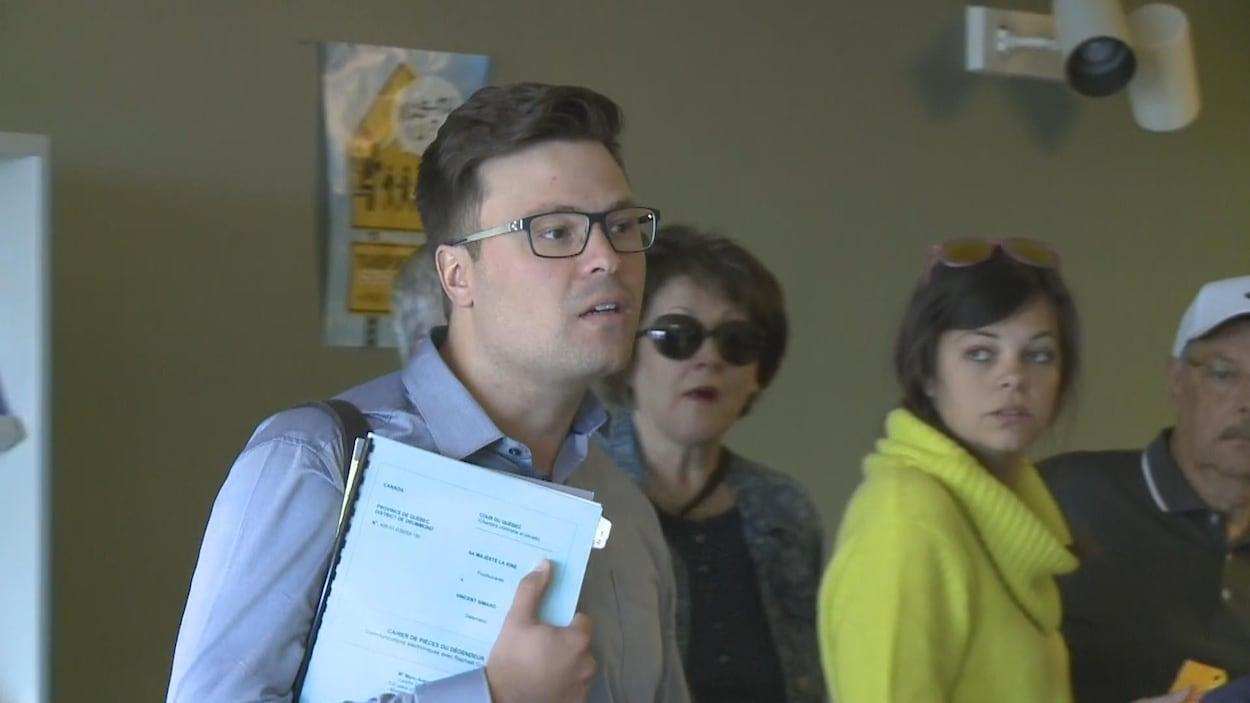 Vincent Simard au palais de justice de Drummondville.