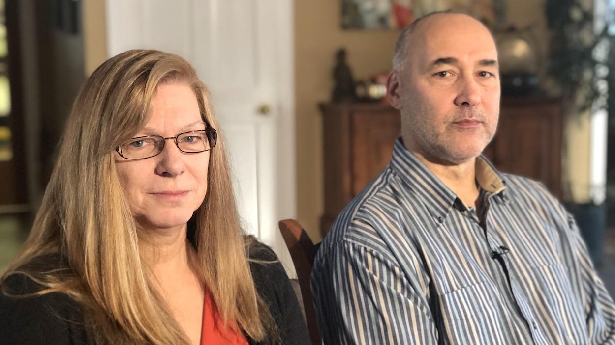Diana Bereck et Kevin Bereck en entrevue avec Radio-Canada.