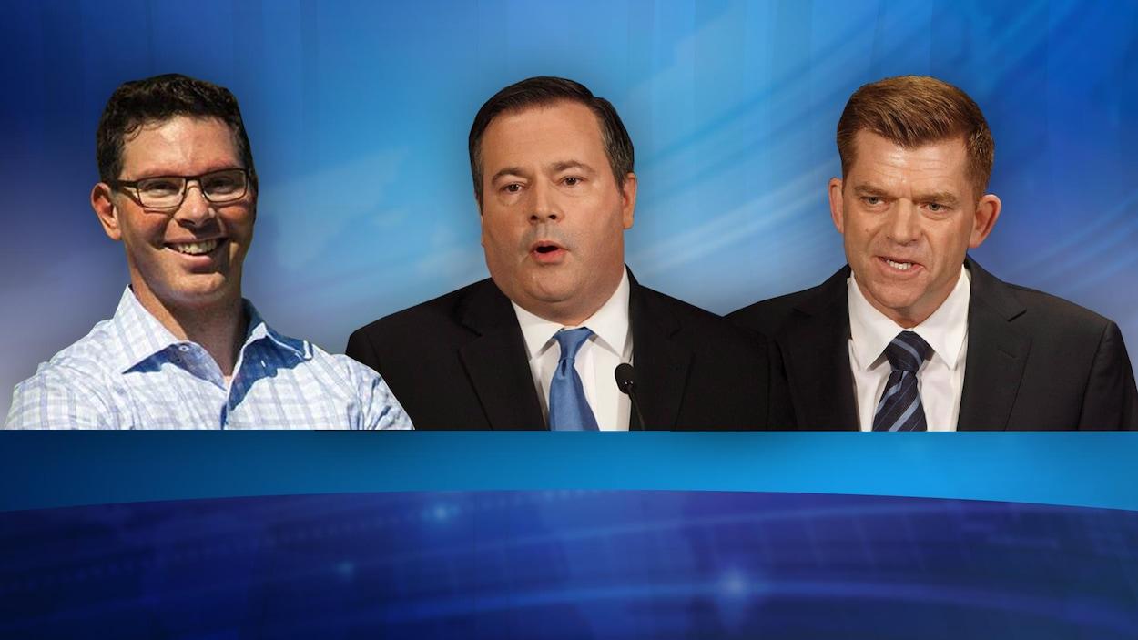 Doug Schweitzer, Jason Kenney et Brian Jean.