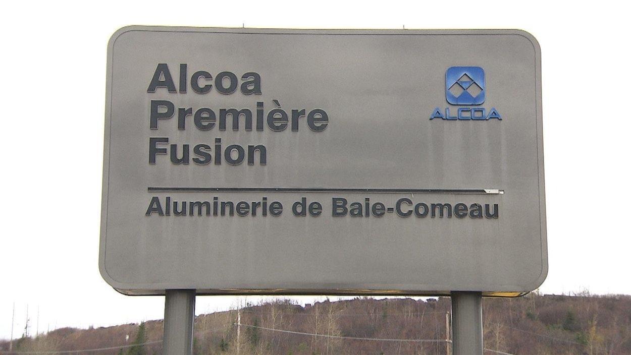 Le centre de coulée de l'aluminerie Alcoa à Baie-Comeau.