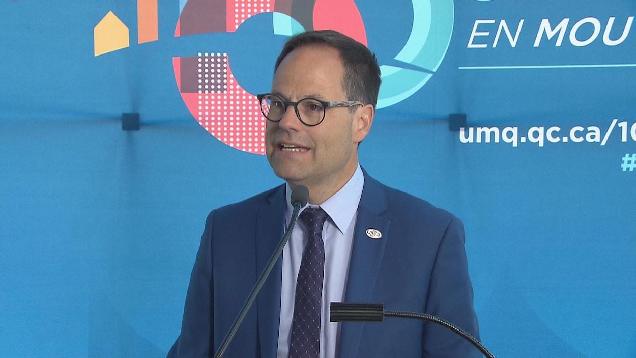 Alexandre Cusson, président de l'Union des municipalités du Québec (UMQ)