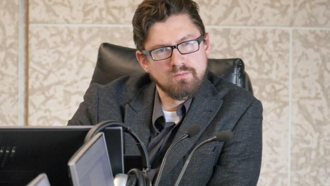 Le conseiller municipal Mathieu Allard.