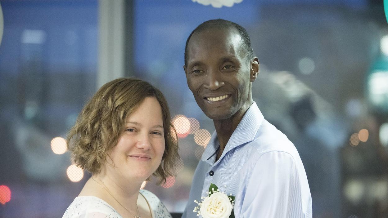 Portrait des deux jeunes mariés
