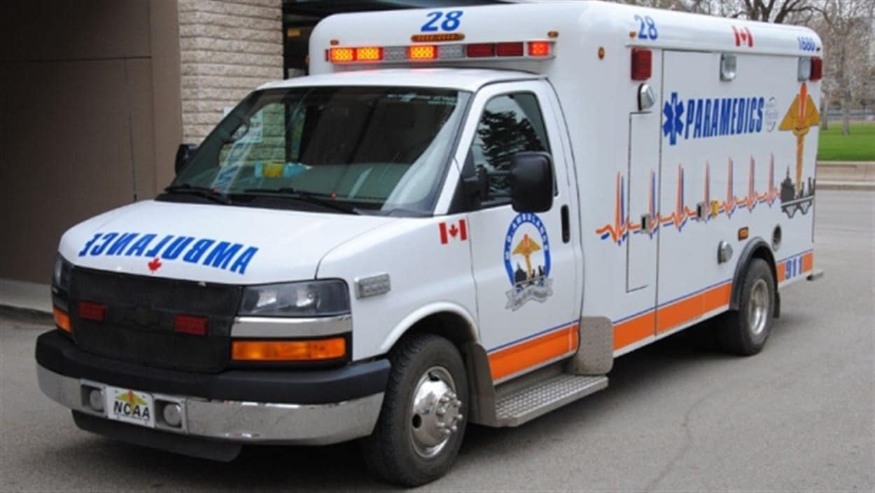 Une voiture du service ambulancier de Saskatoon MD Ambulance