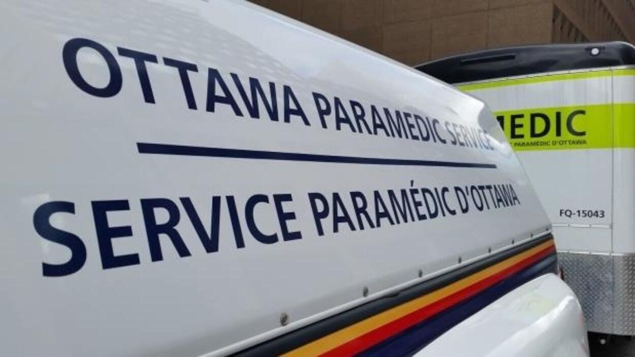 Un véhicule du Service paramédic d'Ottawa